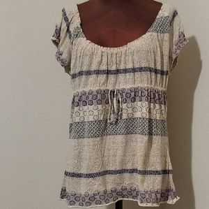 3for$20- Axcess, tan/blue tunic